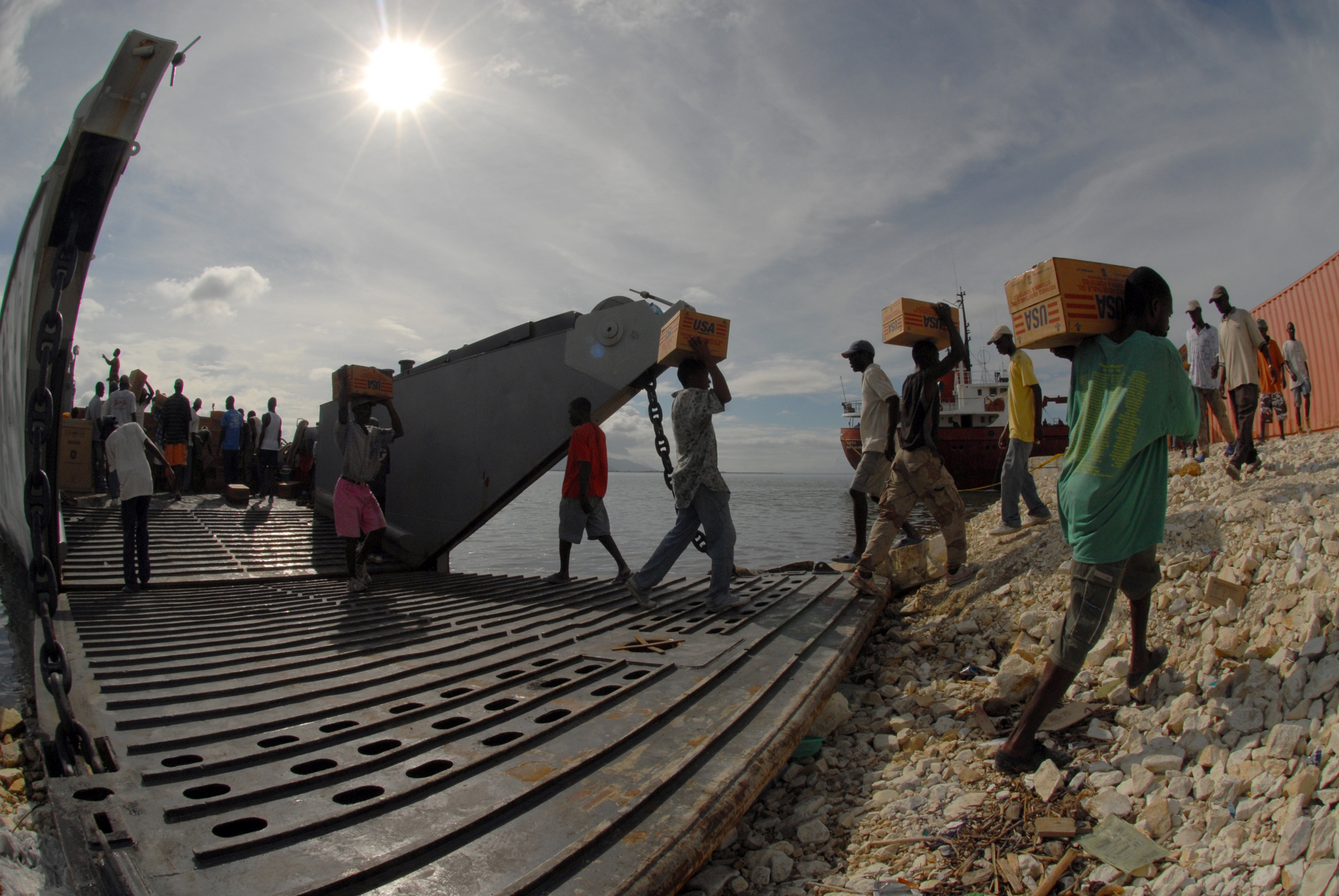 File:US Navy 080924-N-3595W-158 Haitians help Sailors offload ...
