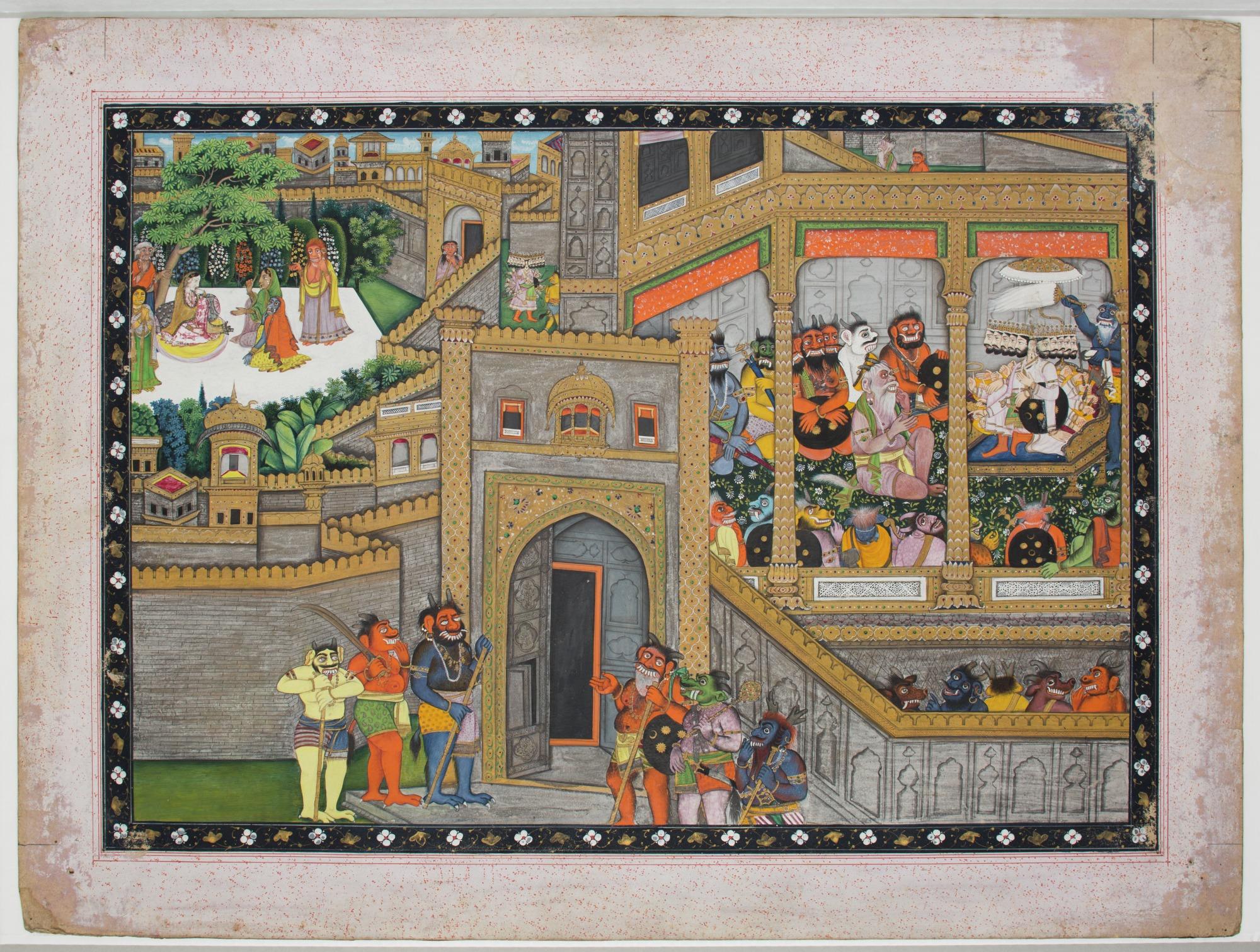 File:Unknown (Indian) - Sita Imprisoned at Ravana's Palace, Ravana Holding  Court (Illustration to the Ramayana) - 70.729 - Detroit Institute of  Arts.jpg - Wikimedia Commons