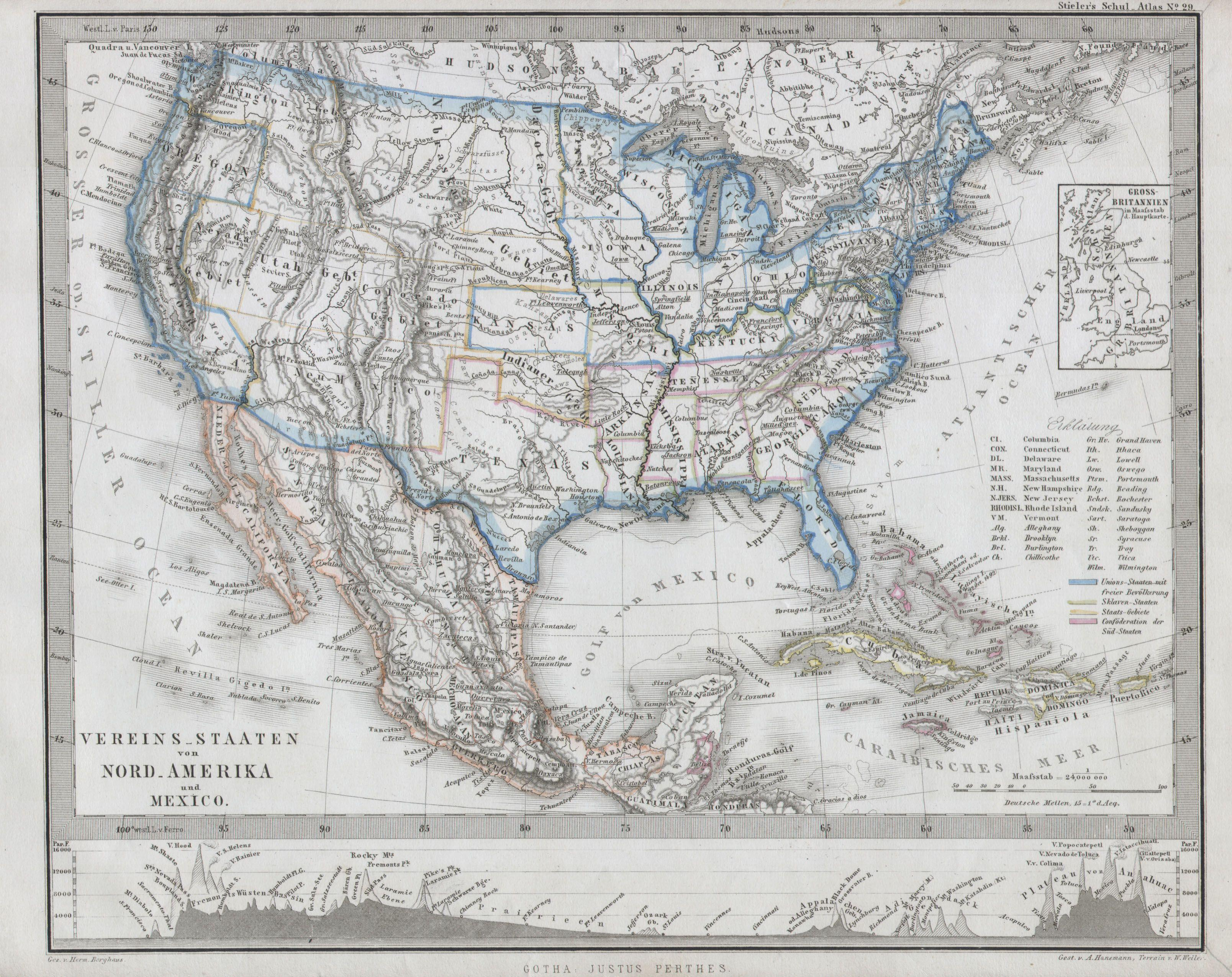 File Stieler Map Of The United States Geographicus USA - Us map 1862
