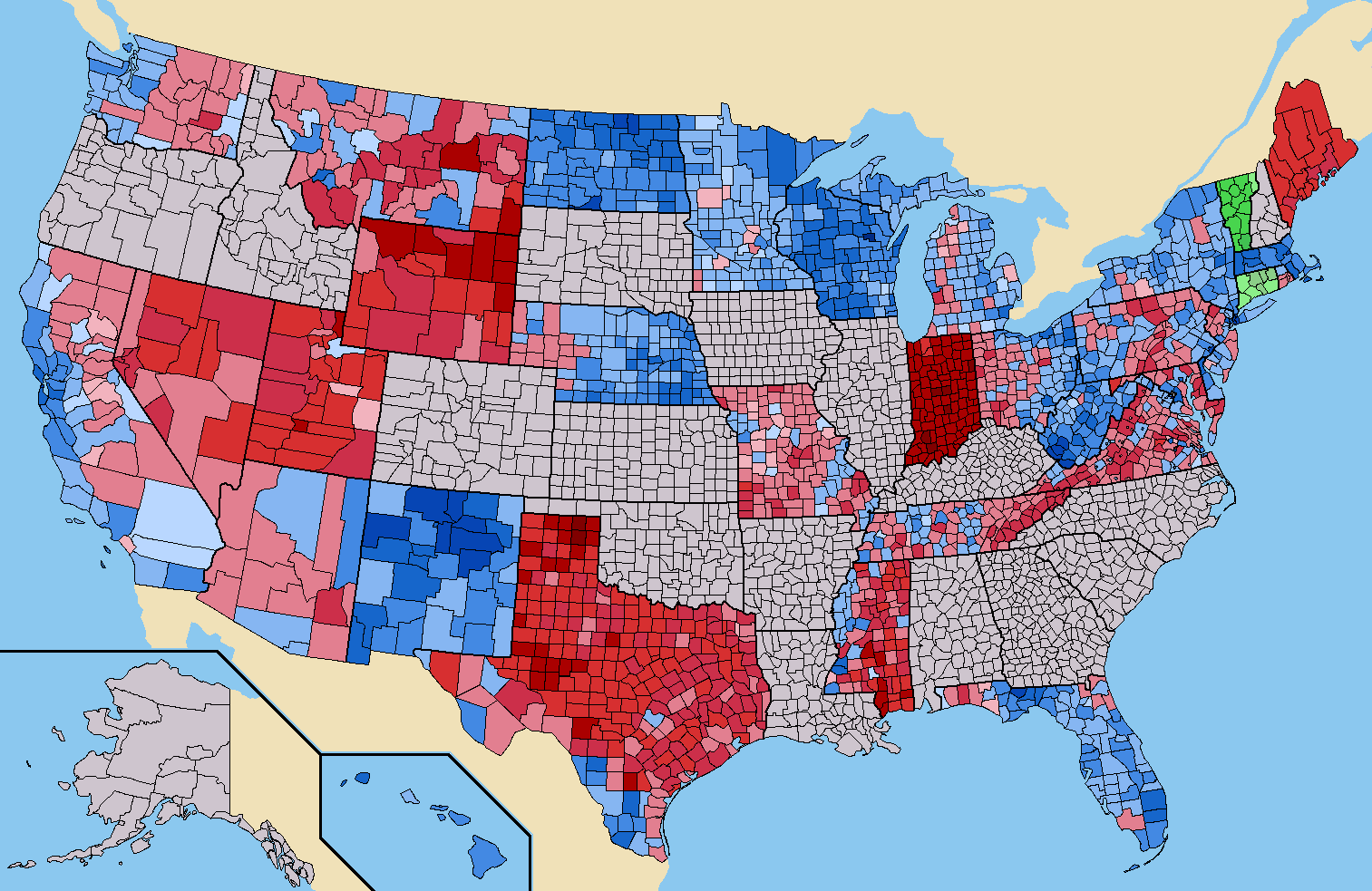File US Senate Election Results By Countypng Wikimedia Commons - 2016 election results us map by county