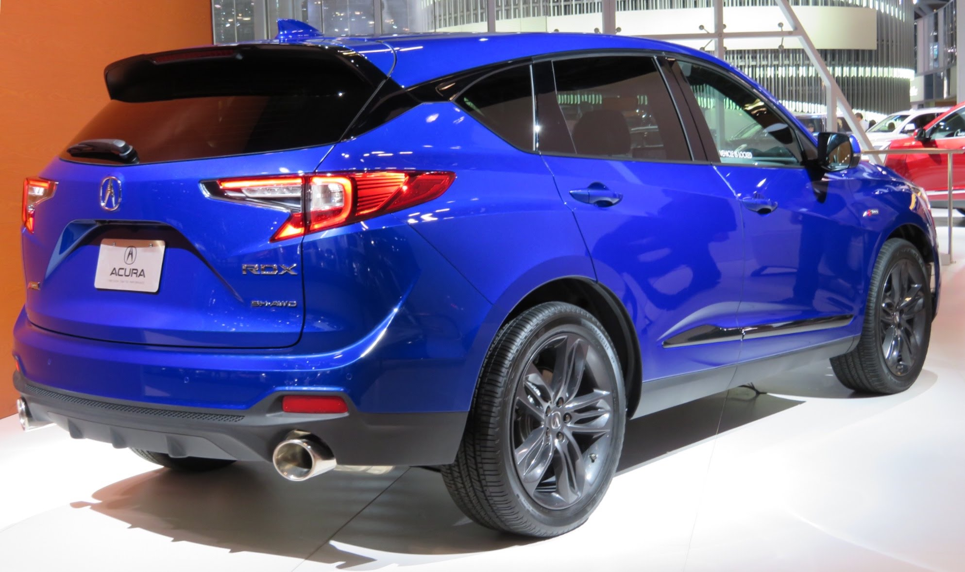 File 2019 Acura Rdx A Spec Rear Blue 4 2 18 Jpg Wikimedia Commons
