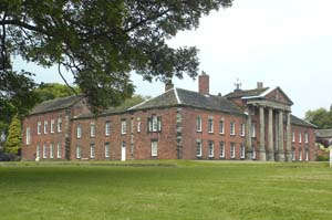 Adlington Hall country house in Cheshire, England