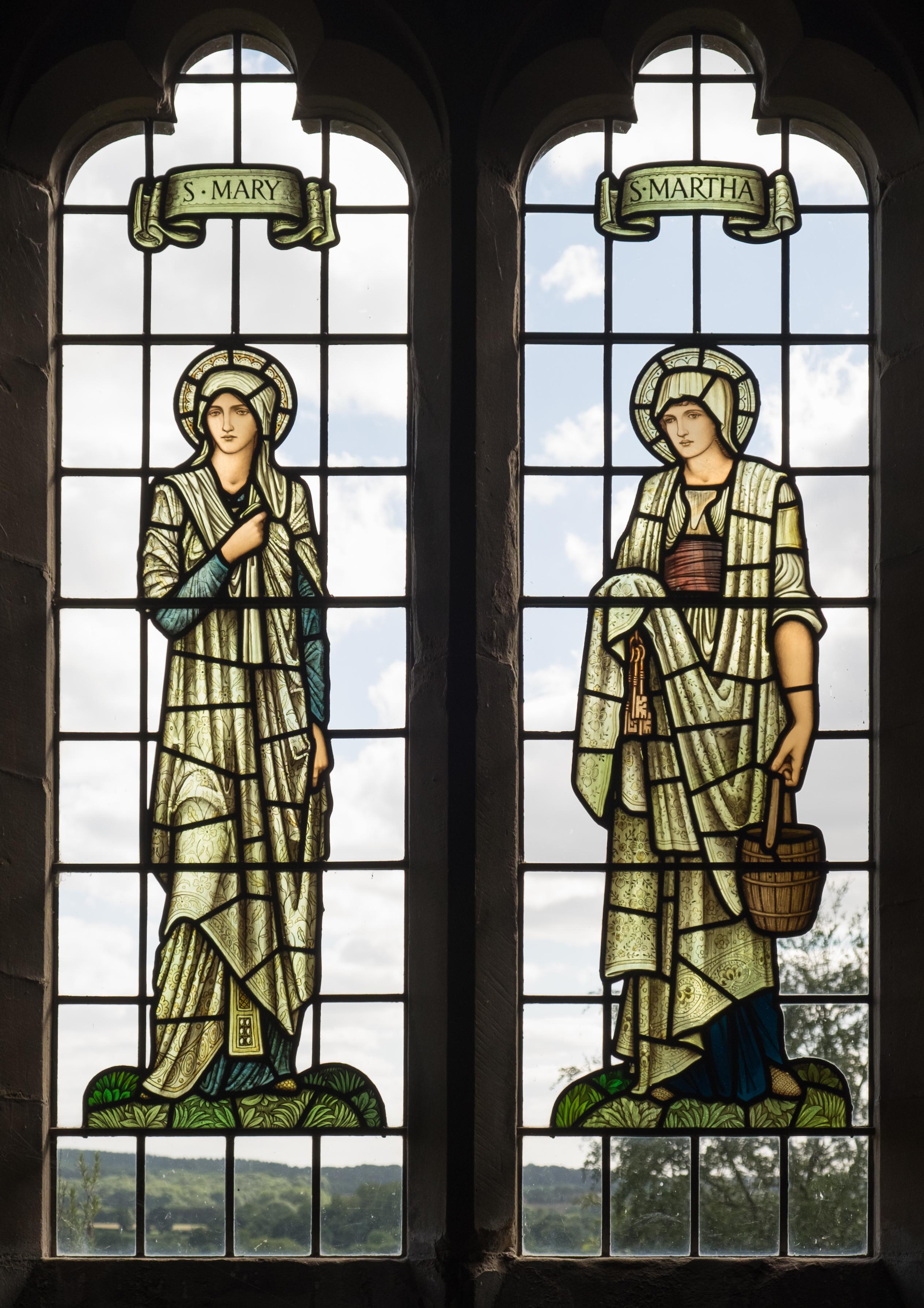 All Glass Windows : File all saints church preston bagot mary and martha
