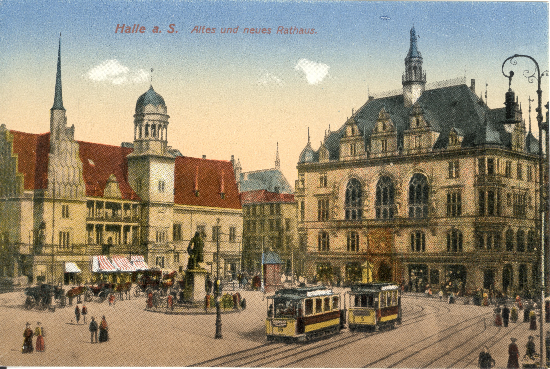 file altes rathaus und neues rathaus halle jpg wikimedia commons