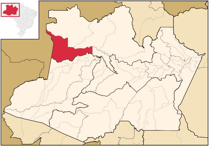 Localização de Japurá