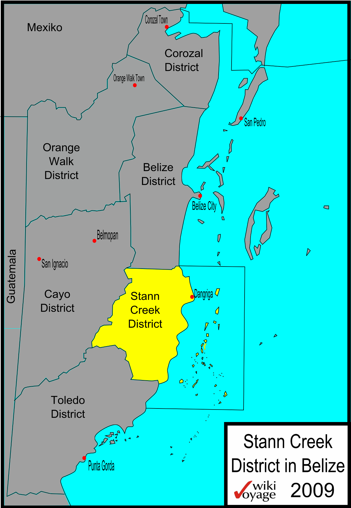 File Belize Map Stann Creek Png Wikimedia Commons