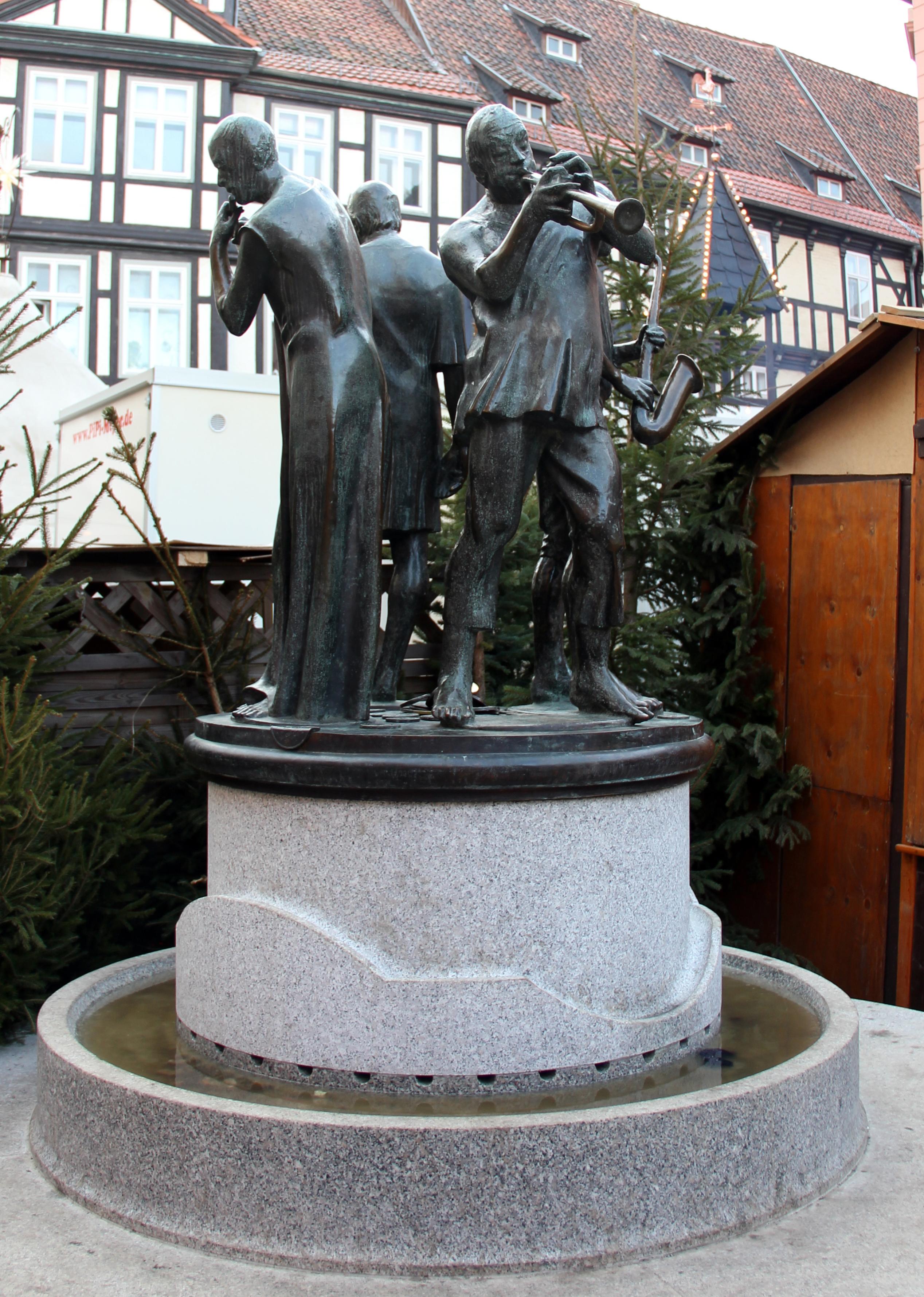 Filebrunnen Markt Quedlinburg Münzenberger