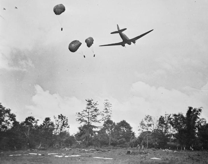 C47 releases rations near Myitkyina