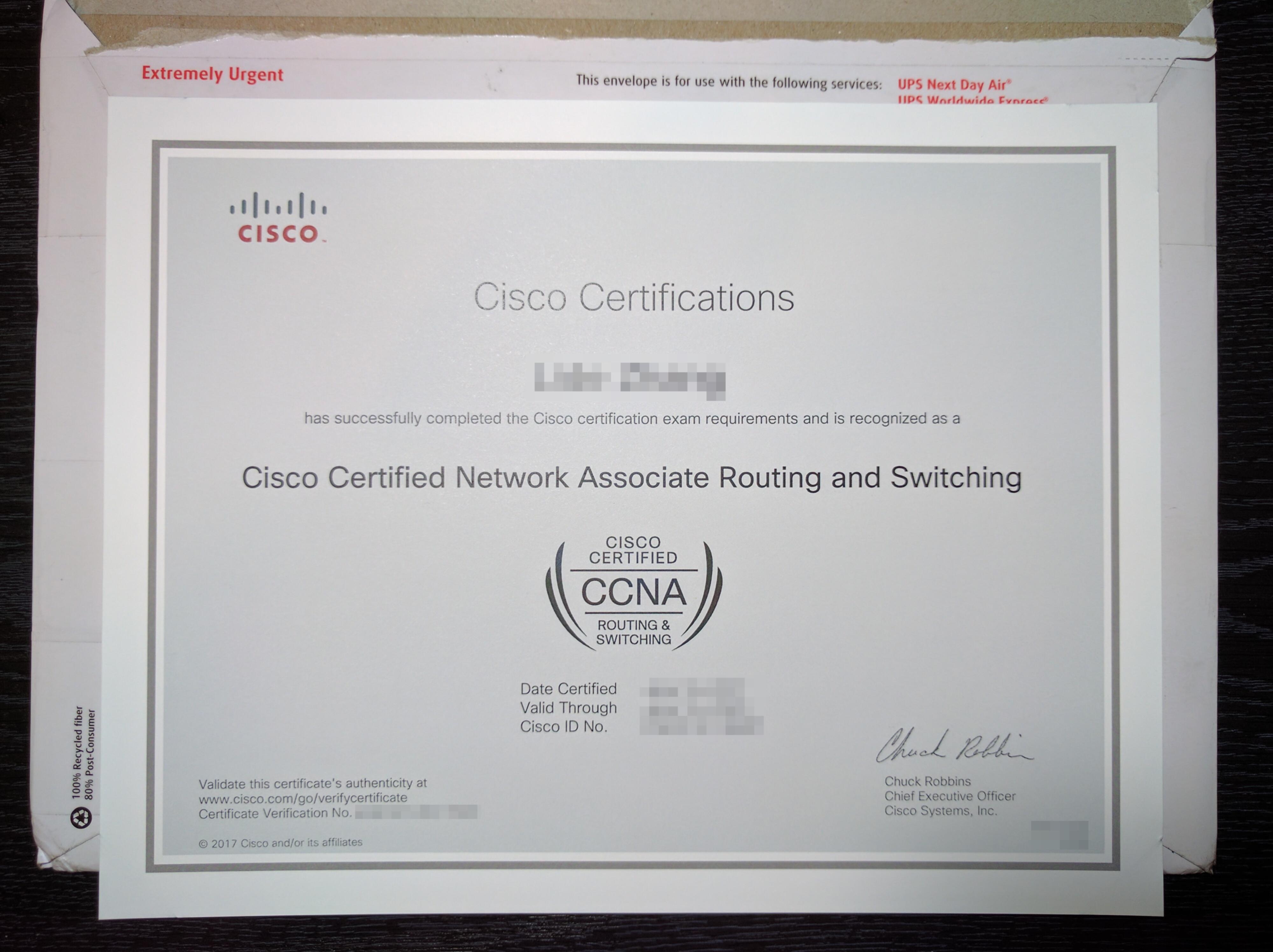 File:CCNA certificate.jpg - Wikimedia Commons