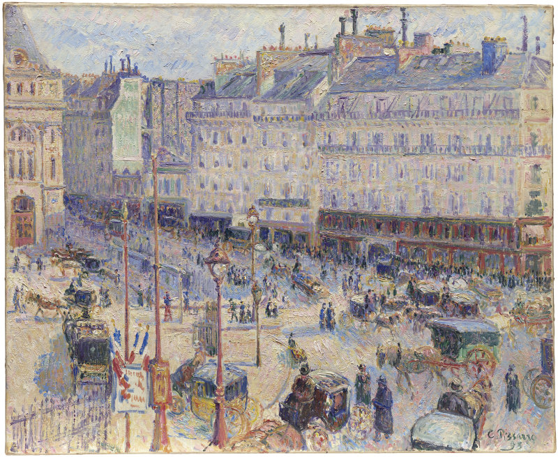 file camille pissarro place du havre paris art institute of