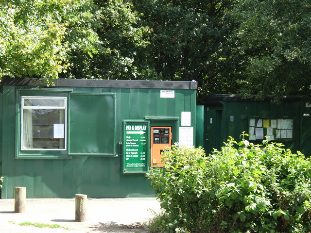 Car park ticket machine and office, Hartshill Hayes Country Park - geograph.org.uk - 933426