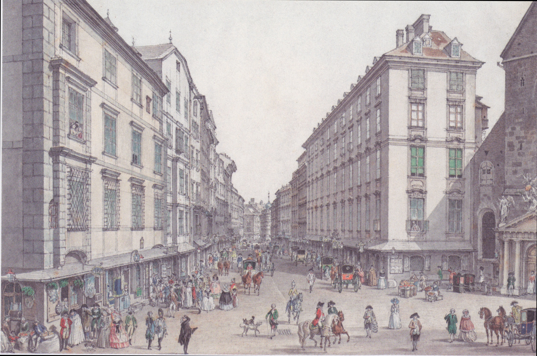 File:Carl Schütz - Der Kohlmarkt in Wien - 1786.jpeg