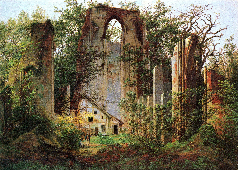 File caspar david friedrich klosterruine eldena for Architecture xix