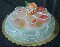 Sicilian Cassata / Marzipan Covered Ricotta Cheese Cake ...