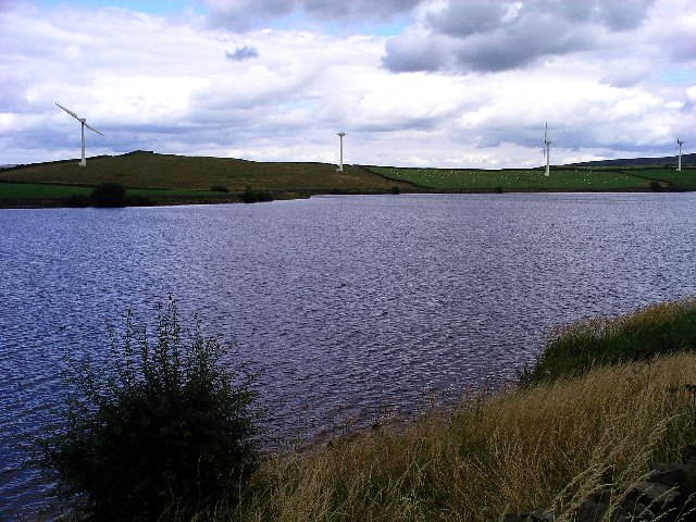 Chelker Reservoir and Wind Farm - geograph.org.uk - 35064