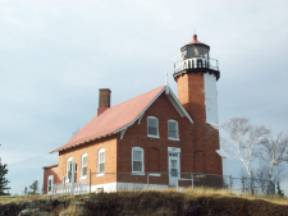 Eagle Harbor Light lighthouse in Michigan, United States