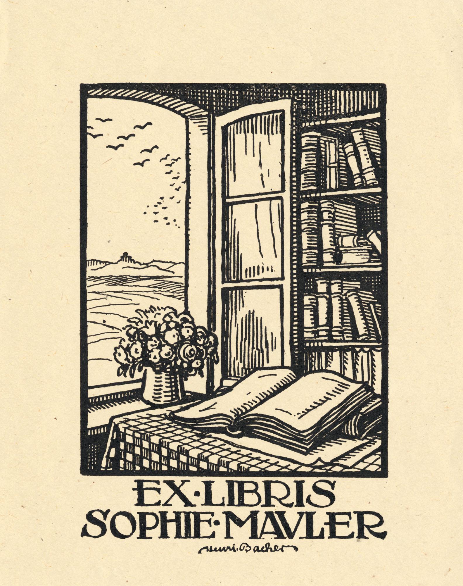 Description Ex libris Sophie Mauler.jpg: commons.wikimedia.org/wiki/File:Ex_libris_Sophie_Mauler.jpg