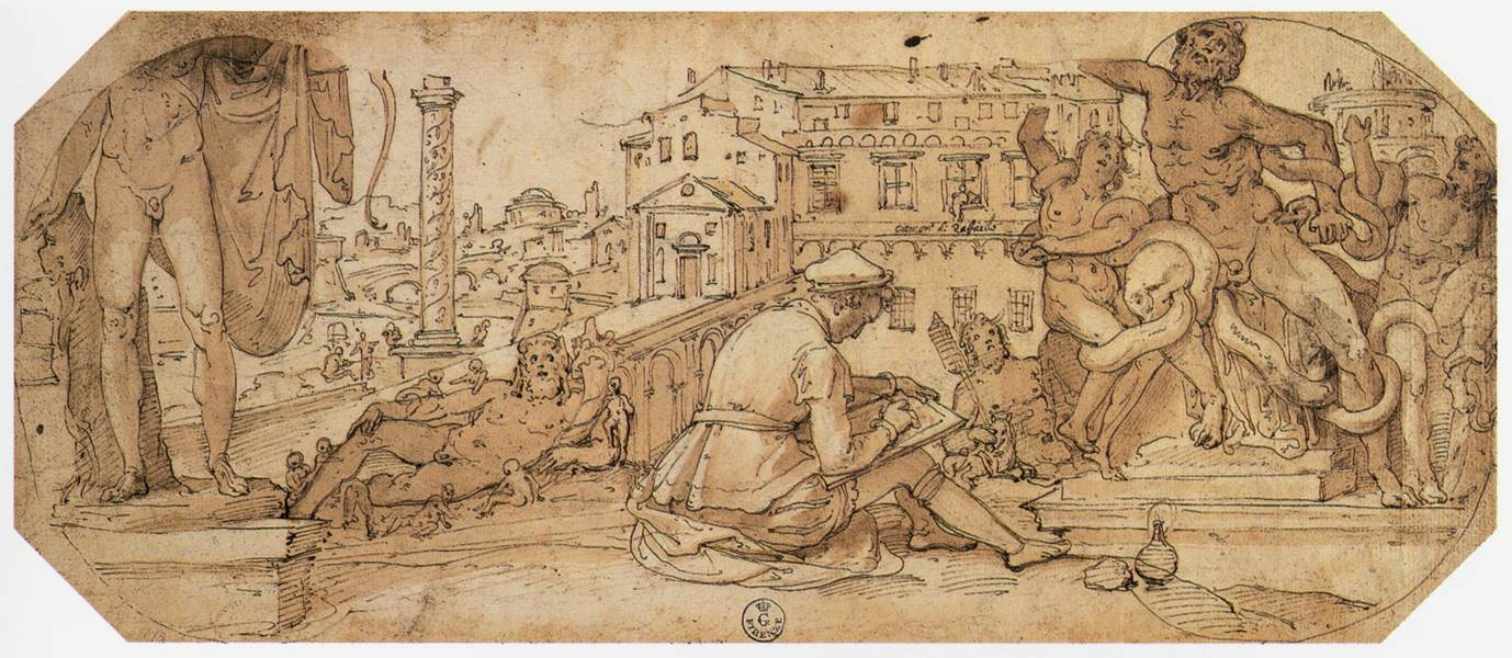 https://upload.wikimedia.org/wikipedia/commons/a/a6/Federico_Zuccaro_-_Taddeo_Zuccaro_Copying_the_Antique_Statues_in_Rome_-_WGA26030.jpg
