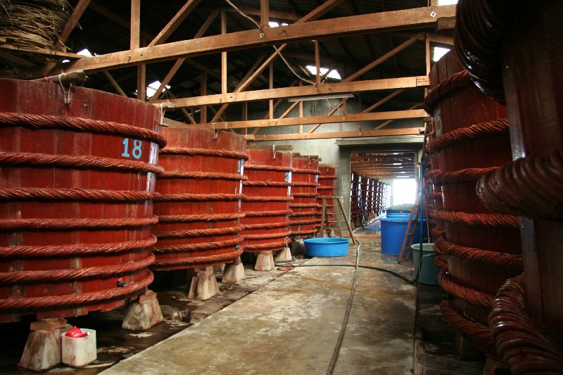 Fish sauce fermentation factory in Vietnam