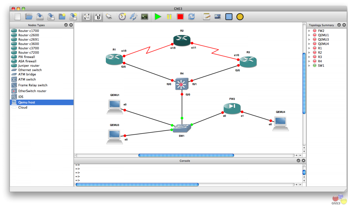 GNS3 (Graphic Network Simulator)