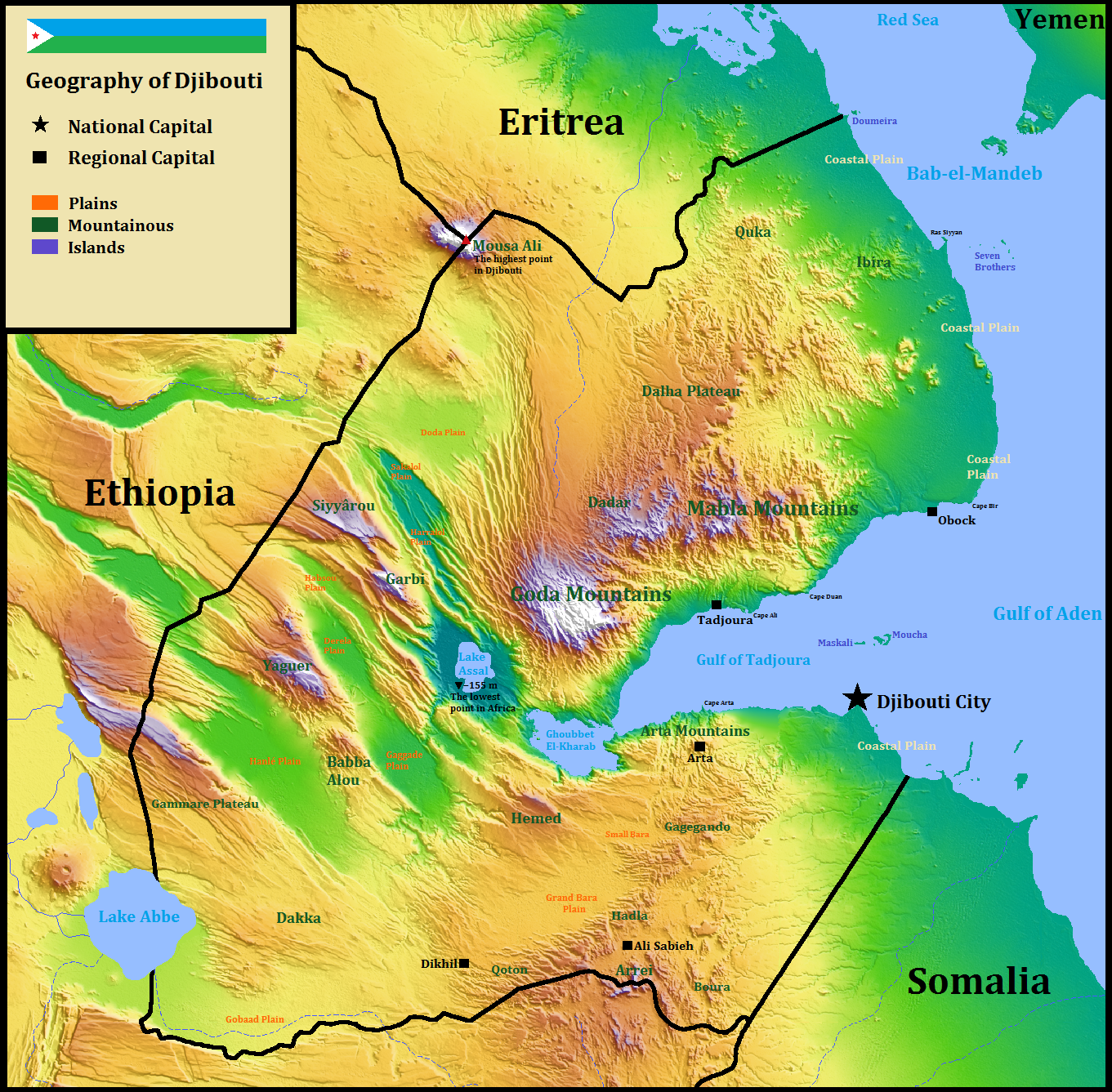 Geography of Djibouti - Wikipedia on