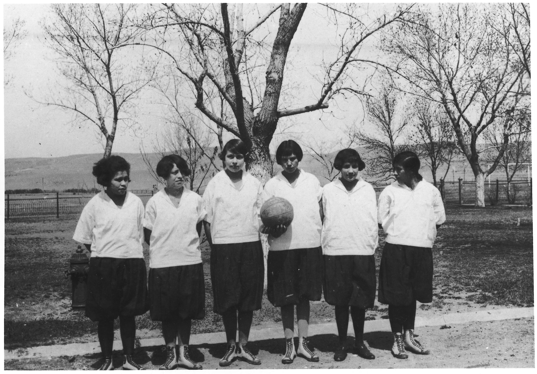File:Girls first basketball team - NARA - 285405.jpg ...