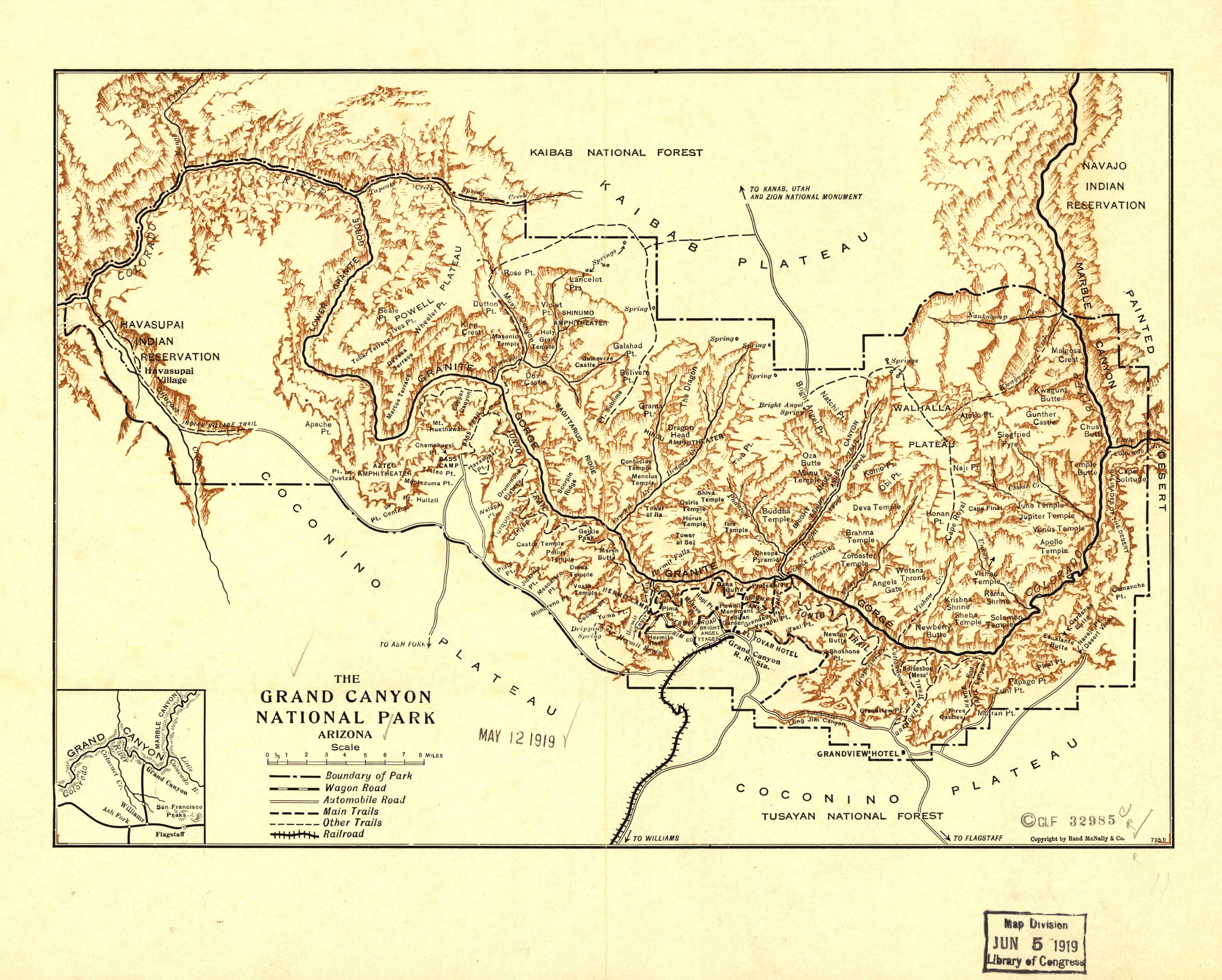 Map Of Arizona Grand Canyon Area.File Grand Canyon National Park Arizona Loc 98687192 Jpg