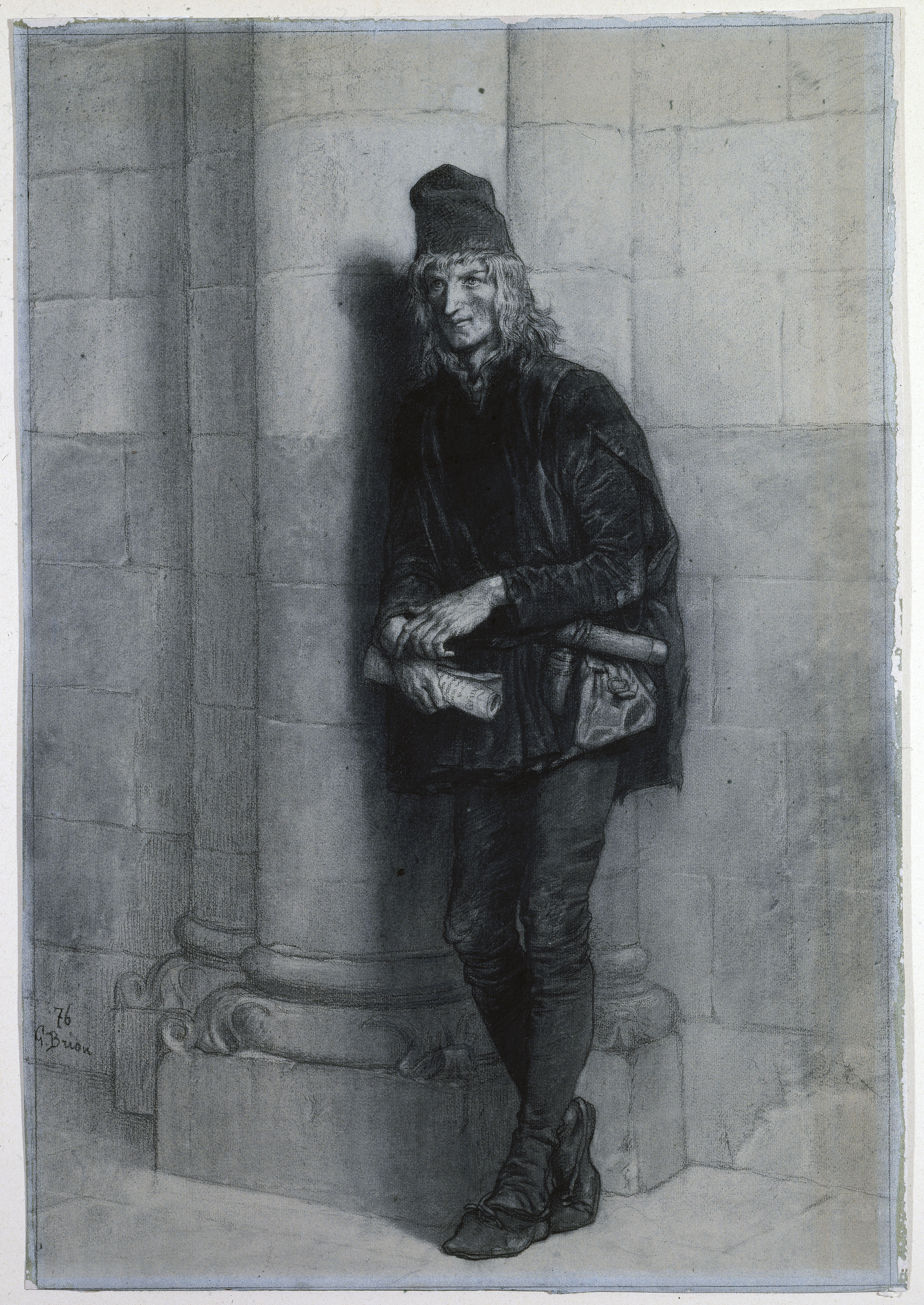 Pierre Gringoire. Illustration by [[Gustave Brion