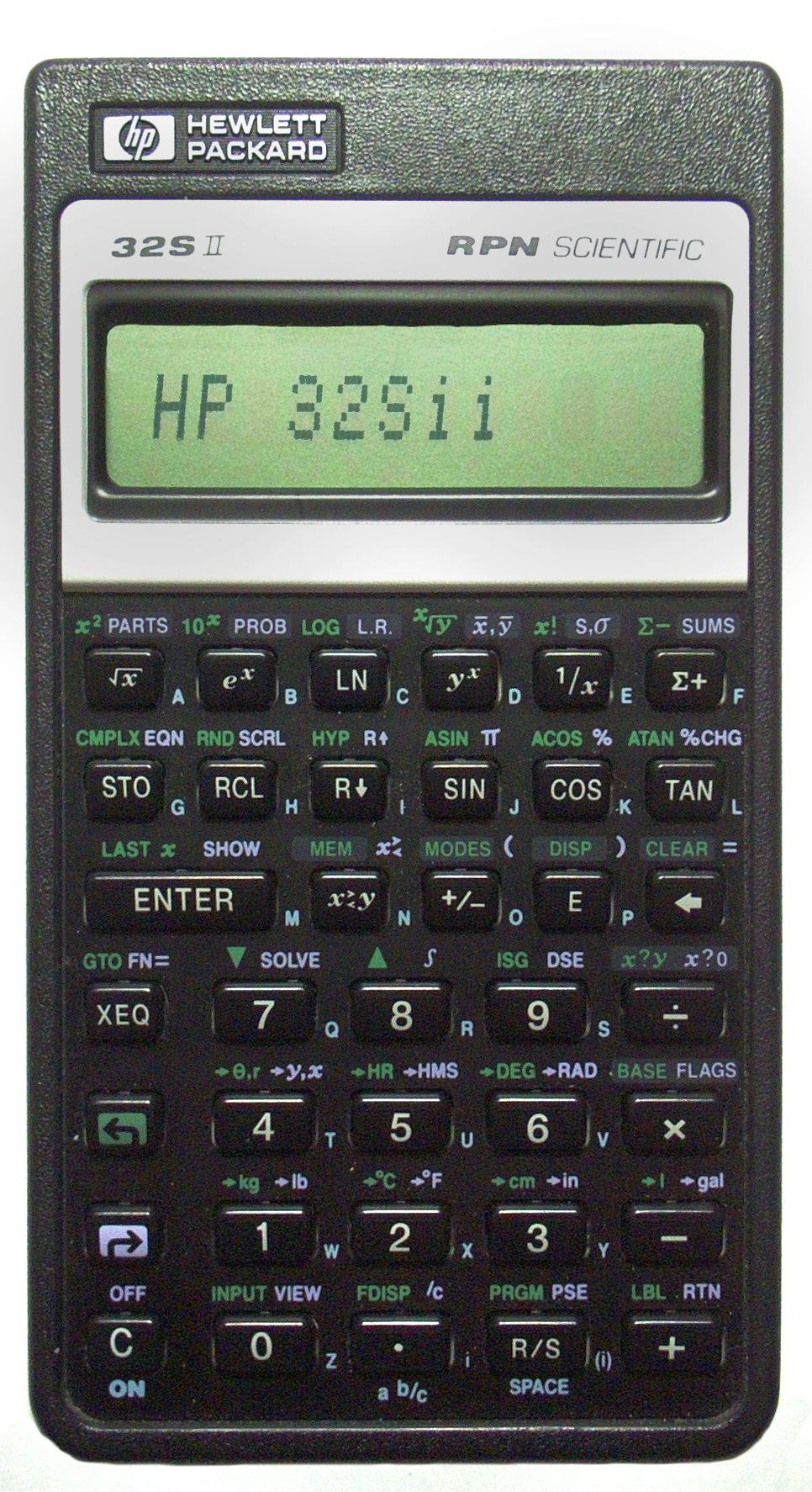 hp 32s wikipedia rh en wikipedia org Old Hewlett-Packard Calculators Hewlett-Packard HP 17 Calculator