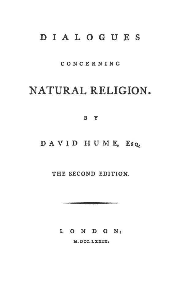 essay dialogues concerning natural religion Dialogues concerning natural religion in spite of a fine arrangement of intellectual thought, david hume s dialogues concerning natural religion has.