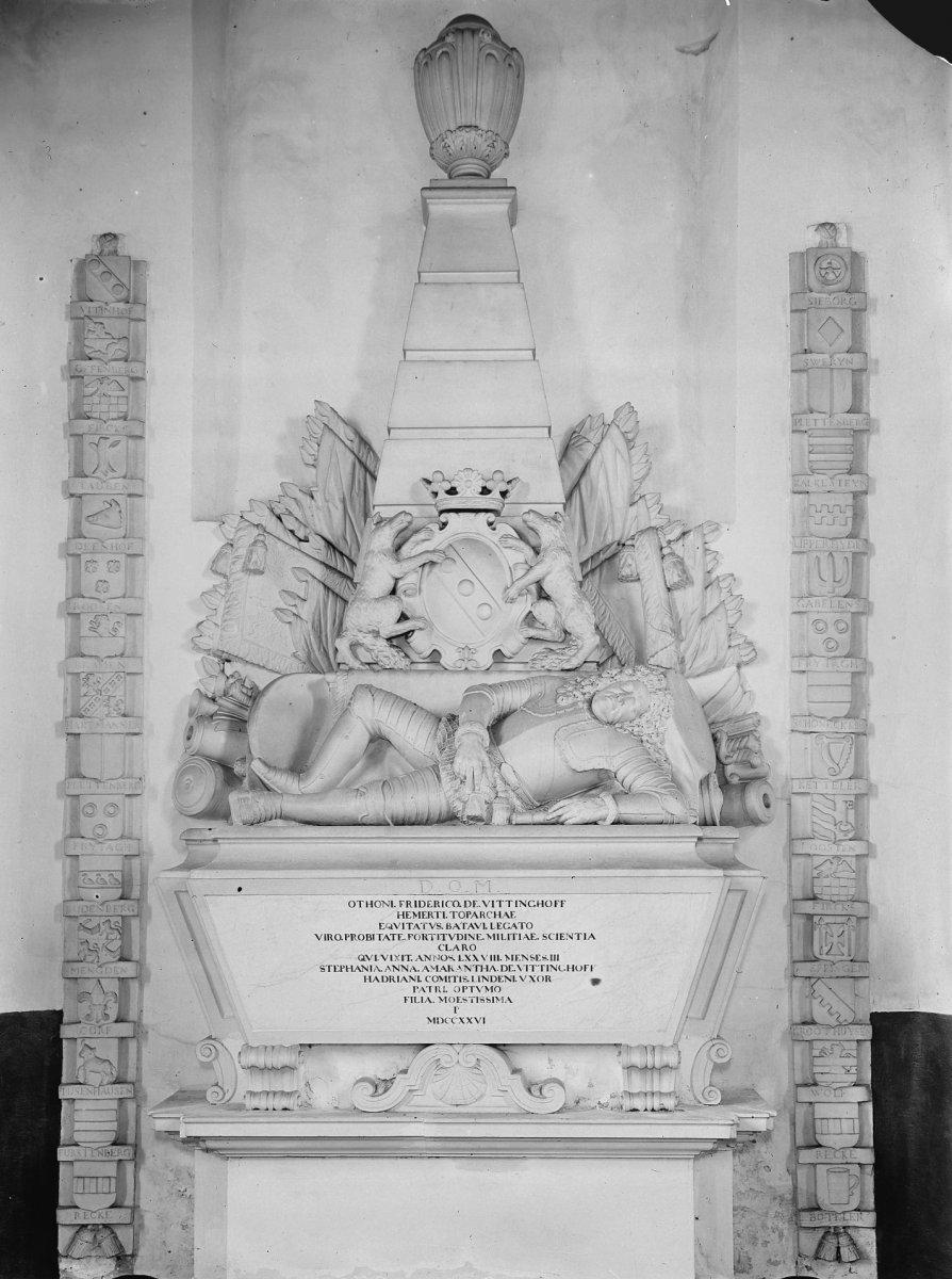File:Interieur, marmeren epitaaf voor Otto Frederik van Vittinghoff ...