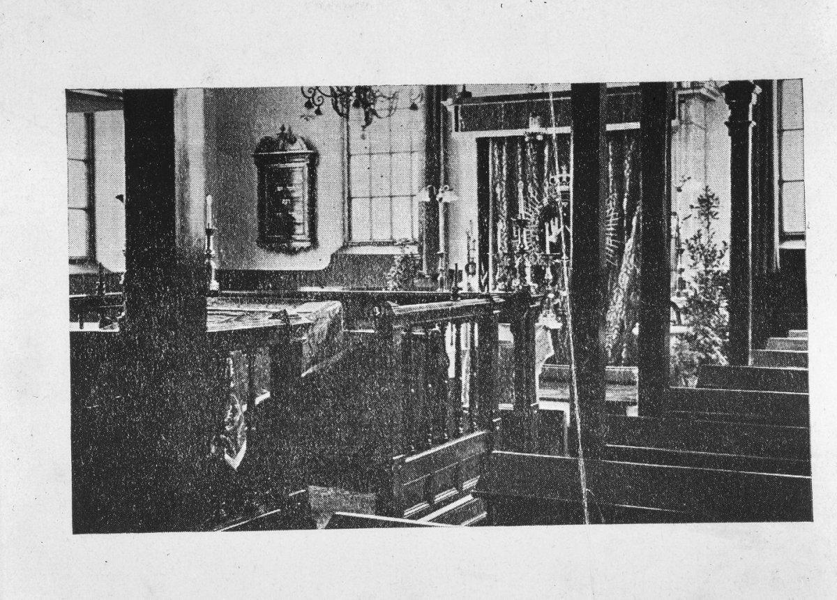 fileinterieur van de synagoge te winterswijk voor 1940 winterswijk 20215381 rce