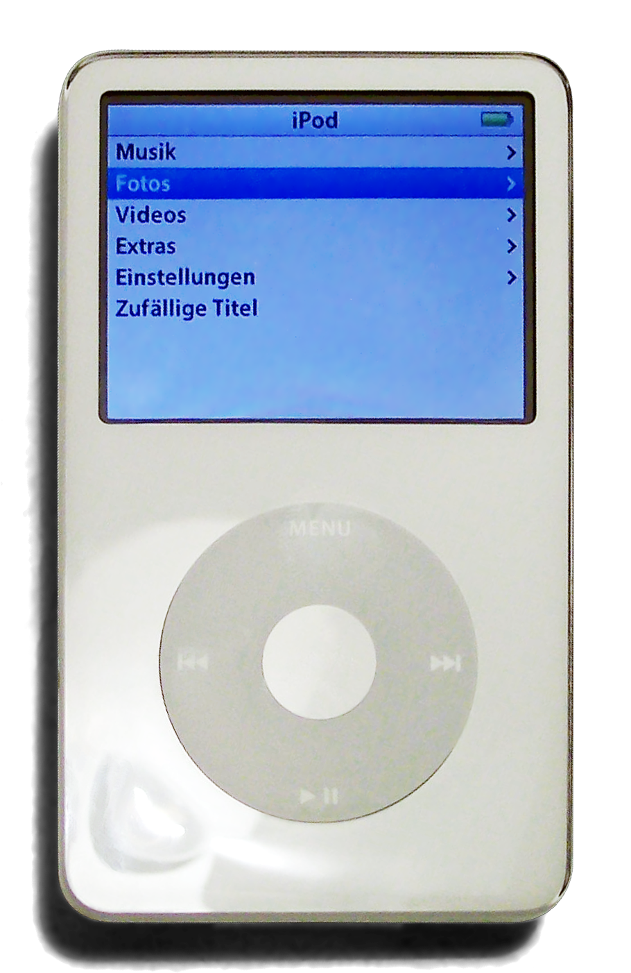 File:Ipod 5th Generation white rotated.png - Wikipedia |Ipod Classic Png