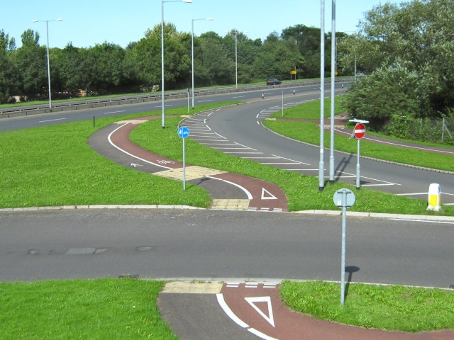 File:Junction on Toneway (A38), Taunton - geograph.org.uk - 1421038.jpg