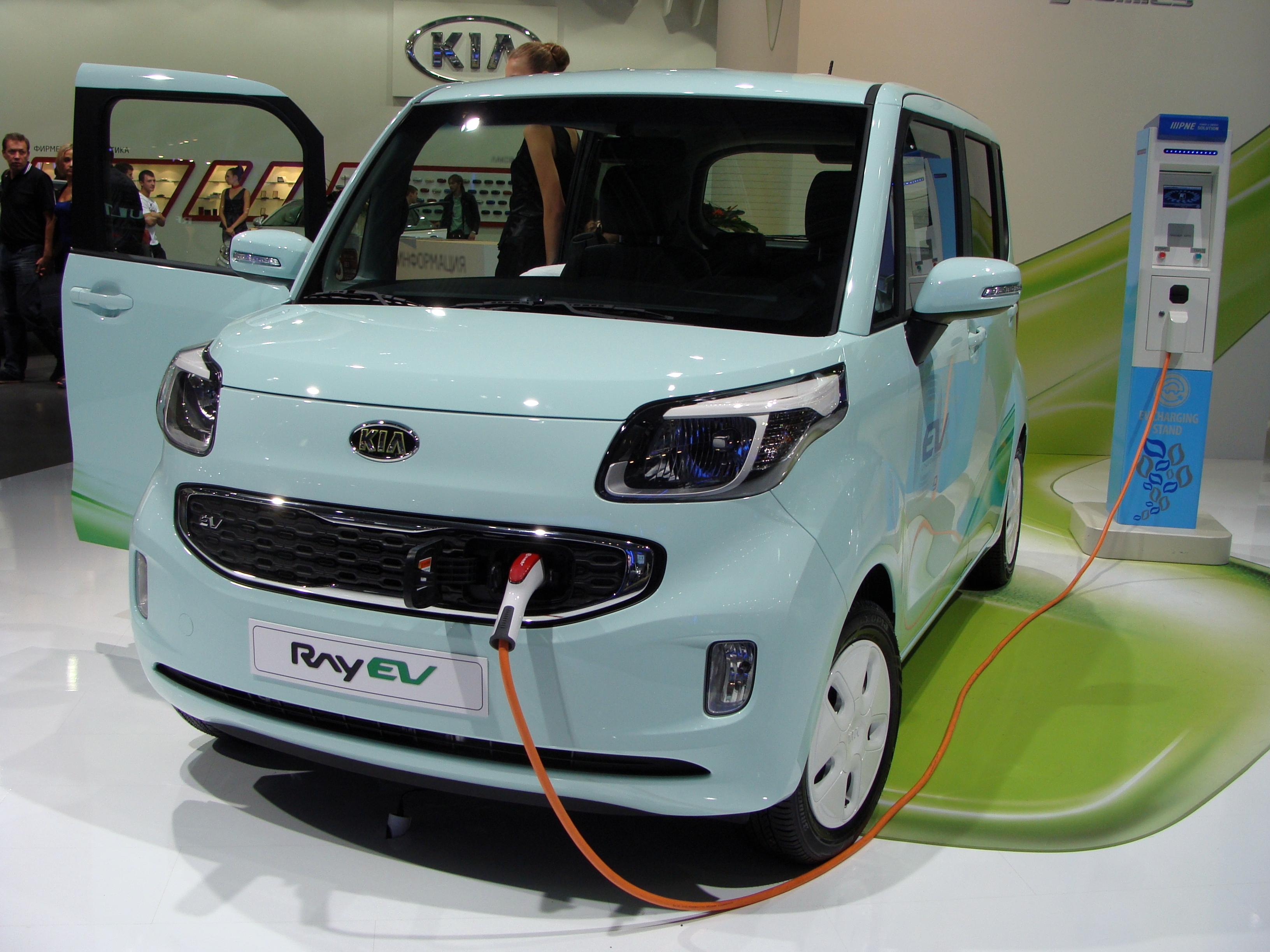 Kia Soul Ev >> File:KIA Ray EV on MIAS 2012.JPG - Wikimedia Commons