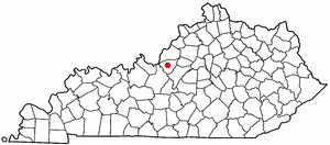 Location of Clermont, Kentucky