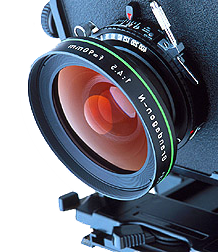 Large format camera lens (inverse)