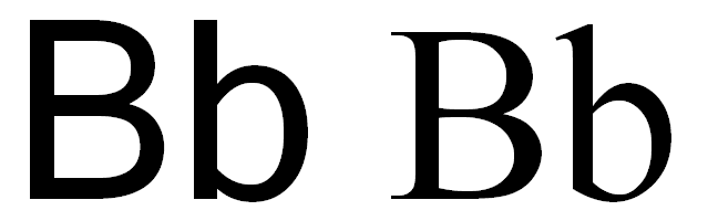 Letter B With Line For Words