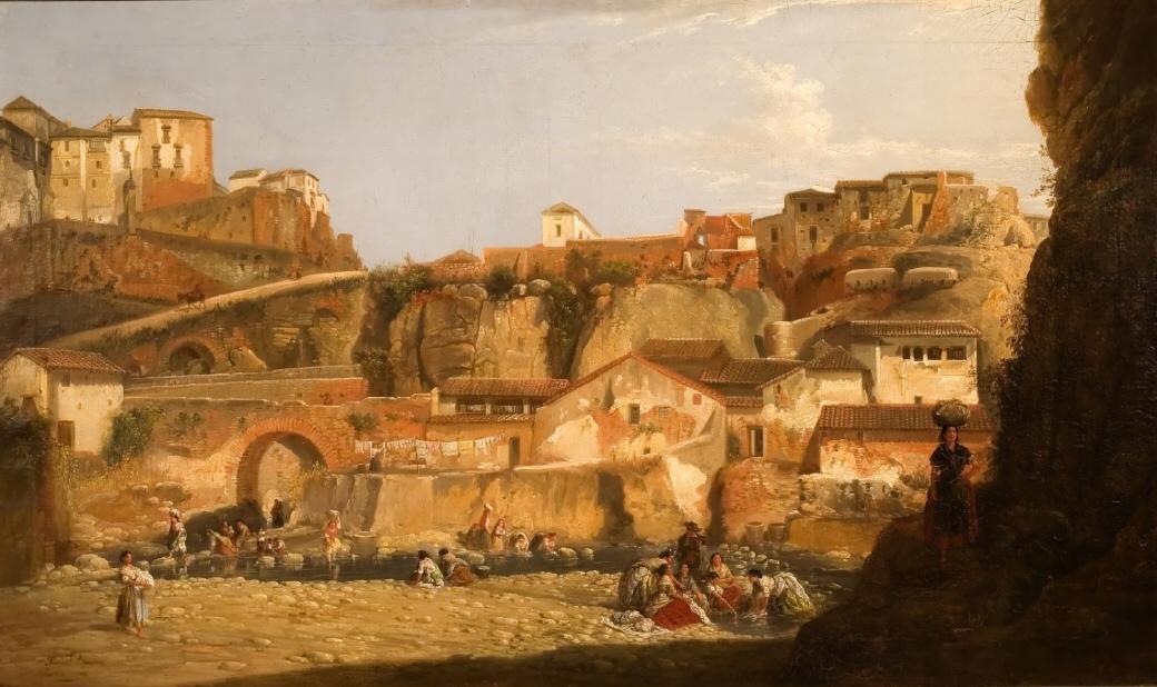 Lavanderas al pie de la ciudad de Ronda, де Мануэль Баррон (Museo de Bellas Artes de Sevilla) .jpg