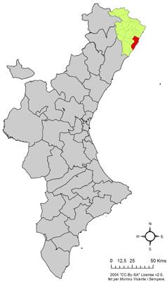 Vị trí của Peñíscola