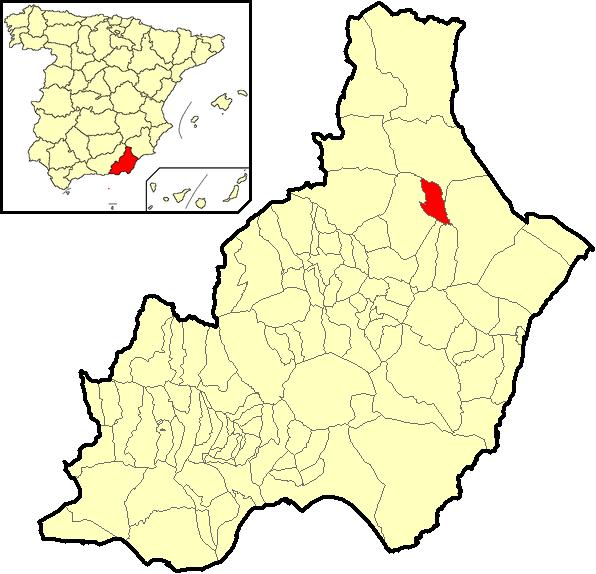 Carte Vera Andalousie.Taberno Wikipedia