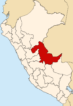 Location of the Ucayali Region in Peru
