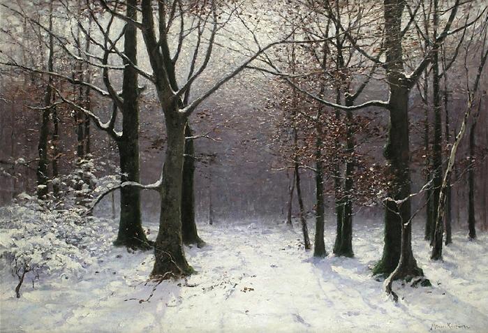 bert der b228r winterwaldvillanelle