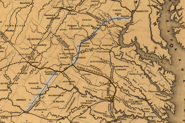 Orange And Alexandria Railroad Wikiwand - Us railroad map 1865