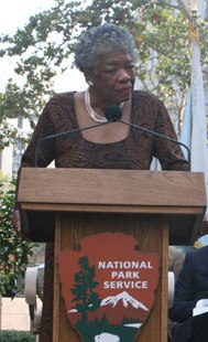 Maya Angelou with Bloomberg and Nadler