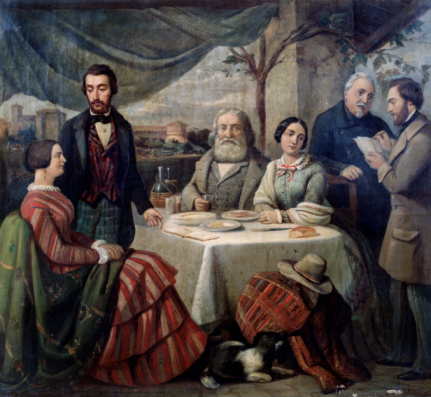 Meeting with Garibaldi by Carlo-Felice Biscarra