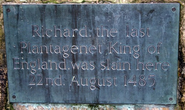 Memorial plaque to King Richard III
