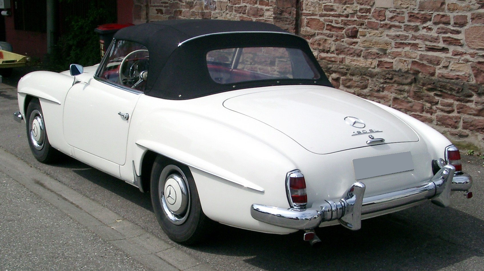 file mercedes 190 sl rear wikimedia commons. Black Bedroom Furniture Sets. Home Design Ideas