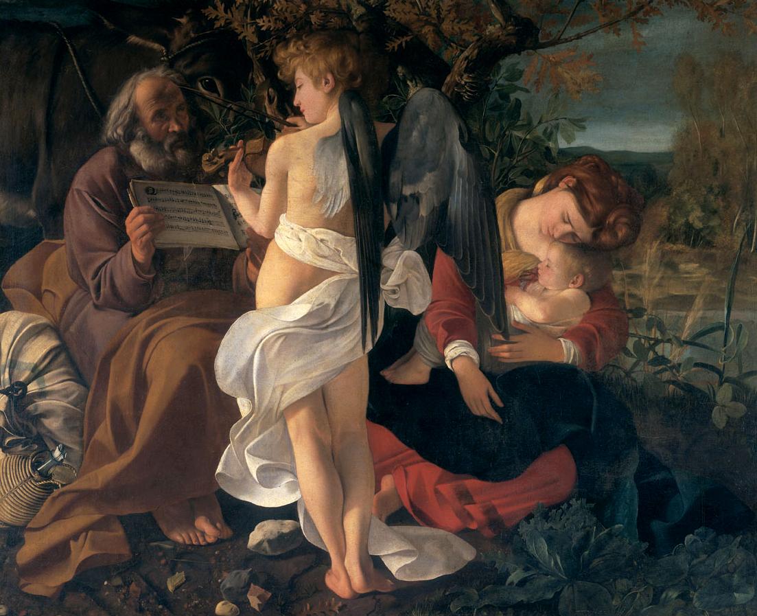 Lepohetki matkalla Egyptiin, Galleria Doria Pamphilj
