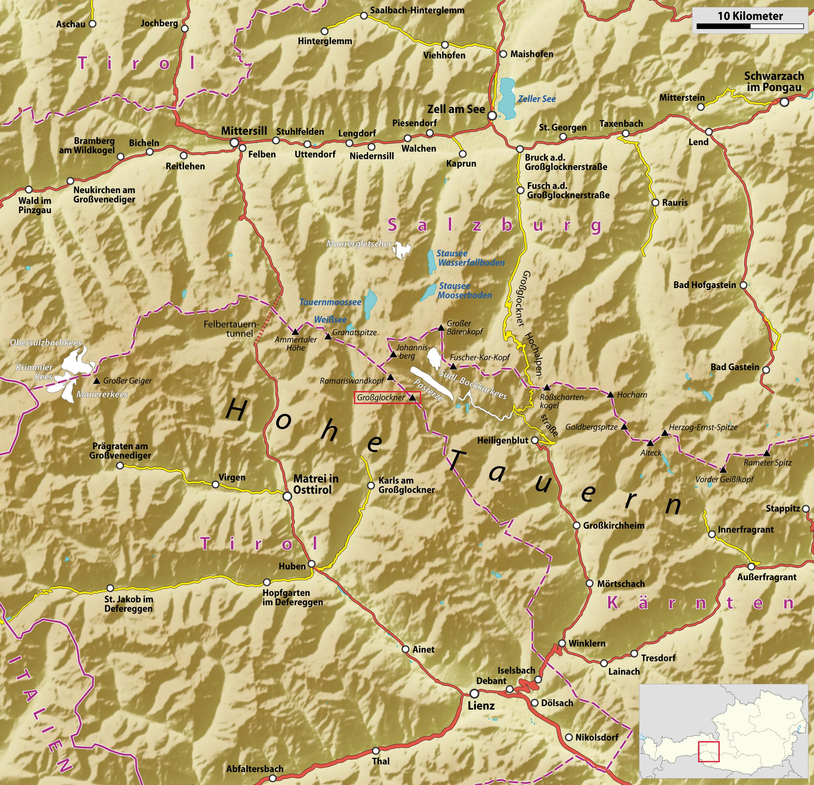 hohe tauern karte Datei:Mittlerer Teil der Hohen Tauern (Karte).png – Wikipedia